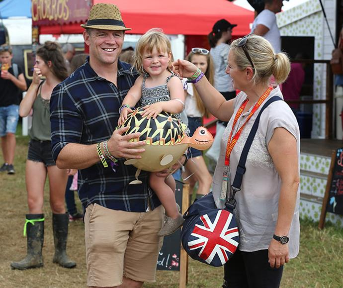 The happy family enjoyed a day out together at The Big Feastival in Kingham, Oxfordshire, in August 2016.