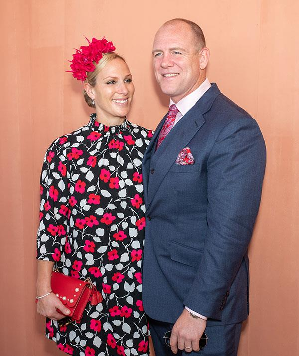Zara and Mike Tindall attend the Magic Millions Raceday at the Gold Coast Turf Club in January, 2019 on the Gold Coast.