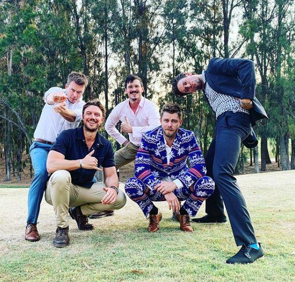 The boys are back in town! Former *Home and Away* stars Todd Lasance, Luke Mitchell, Chaz Cottier, Lincoln Younes, and Aussie actor Adam Demos, hit the golf course after reuniting in Australia for the holidays.