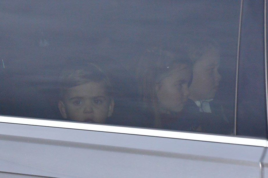The three Cambridge children head home to Kensington Palace. *(Image: Getty)*