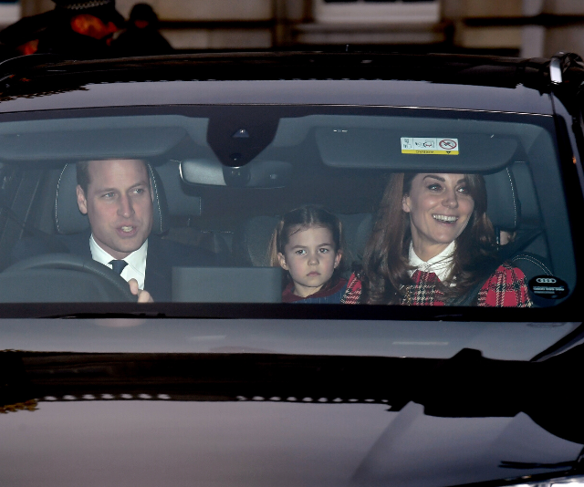 The Cambridge family left lunch together, despite arriving separately.