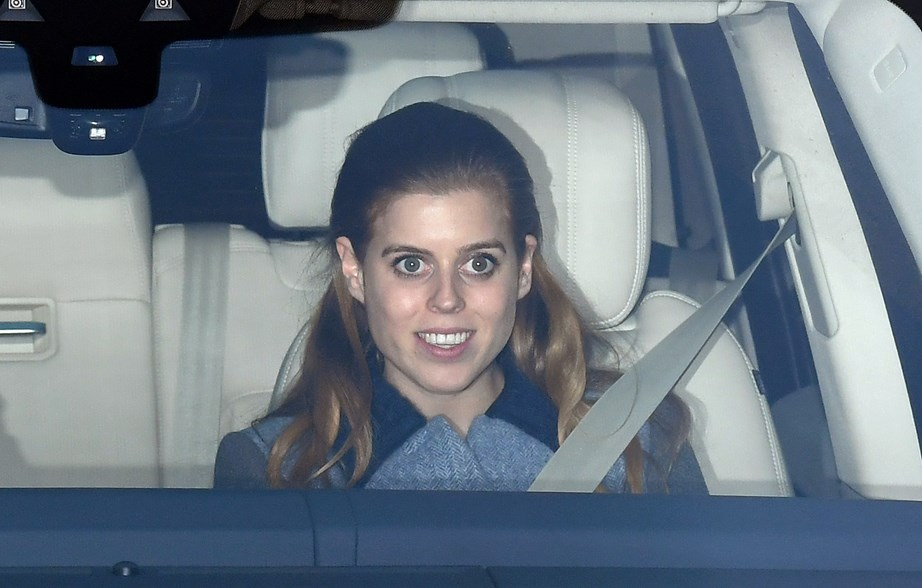 Princess Beatrice was all smiles as she arrived at Buckingham, however was without her finace Edoardo. *(Image: Getty)*