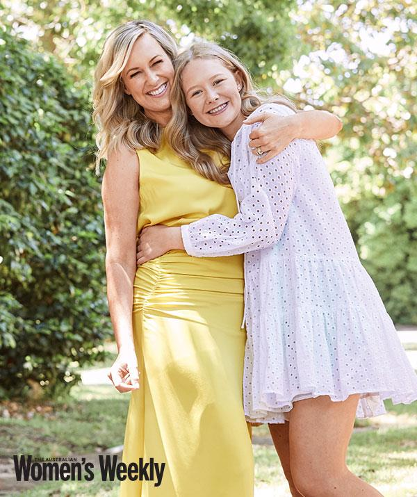 Melissa Doyle and her daughter Talia chat to the Australian Women's Weekly. Photo by Alana Landberry.