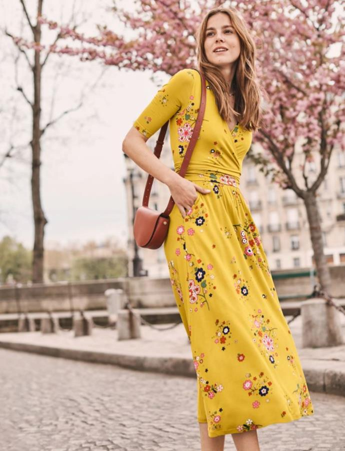 "Boden Carrie Jersey Midi Dress, $85. [Buy it online here](https://www.bodenclothing.com.au/en-au/carrie-jersey-midi-dress-saffron-daydream/sty-j0463-dyl target=""_blank"" rel=""nofollow"")."