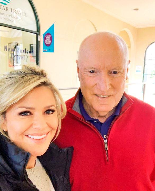 Emily Symons and Ray Meagher on the *Home and Away* set.