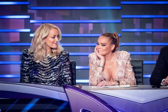 **LINDSAY LOHAN'S REACTIONS (THE MASKED SINGER)** <br><br> She was the star attraction on a show that became the year's surprise hit, but Lindsay Lohan's reactions to the celebrity reveals on *The Masked Singer* provided as much entertainment as the acts themselves. Clearly not knowing who the stars were, Lindsay struggled to contain her confusion as each new singer was revealed. Lindsay would go on to have the last laugh, correctly guessing the eventual winner, Cody Simpson.