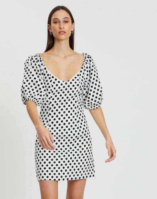 "Aere puff sleeve mini dress, $129. [Buy it online via The Iconic here](https://www.theiconic.com.au/puff-sleeve-mini-dress-938076.html|target=""_blank""