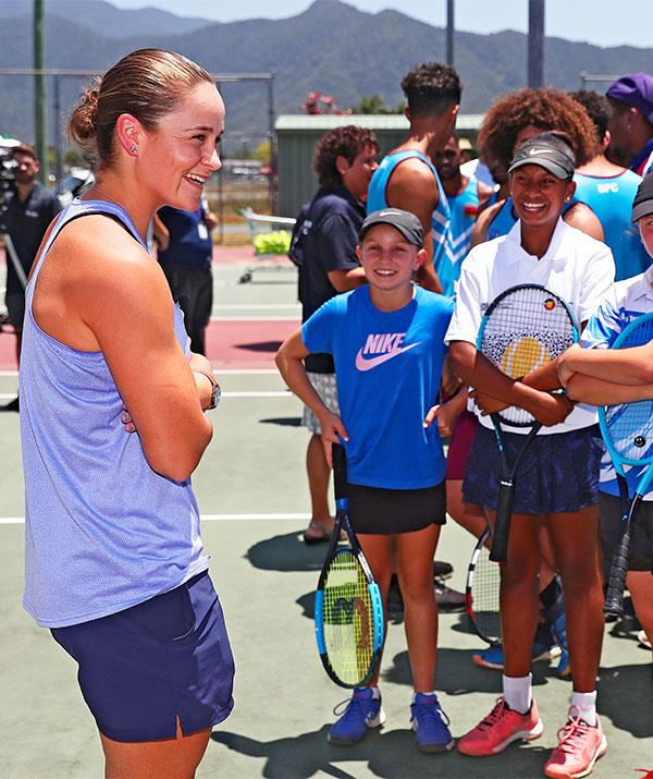 Ash Barty is known for her down to earth presence both on and off the court.