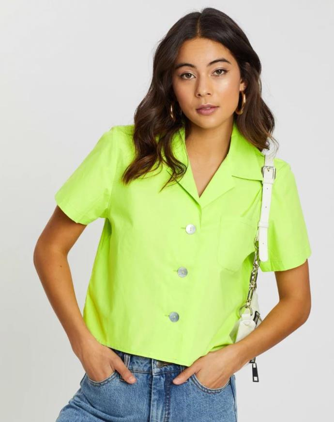"Dazie take a trip cotton shirt, $59.99. [Buy it online via The Iconic here](https://www.theiconic.com.au/take-a-trip-cotton-shirt-931511.html|target=""_blank""