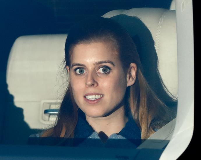 Beatrice was seen driving into Buckingham Palace earlier in the day, where her father was also present.