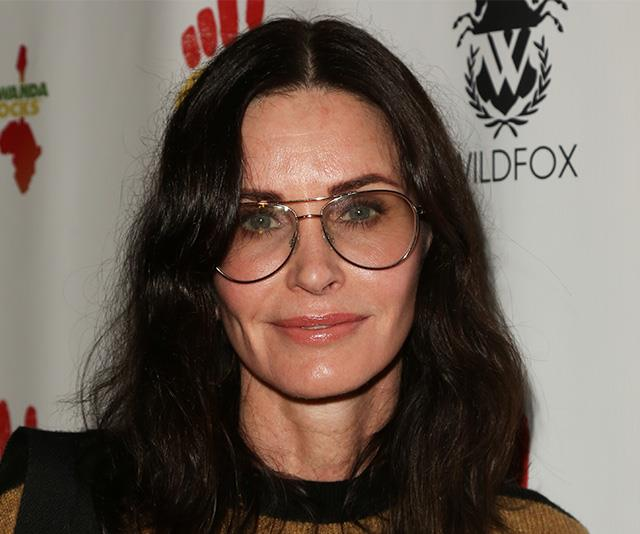 Courteney pictures in 2019, two years after she said she had her fillers dissolved.
