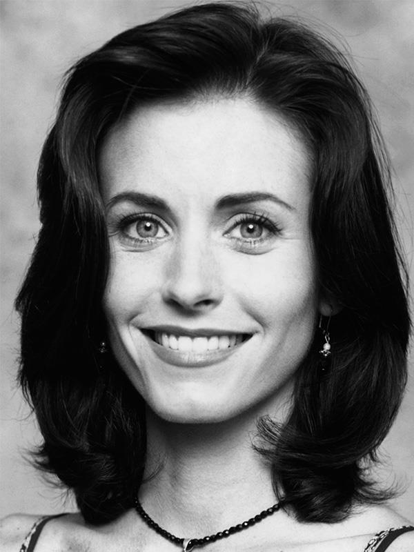 Courteney Cox in 1994, when *Friends* first debuted.