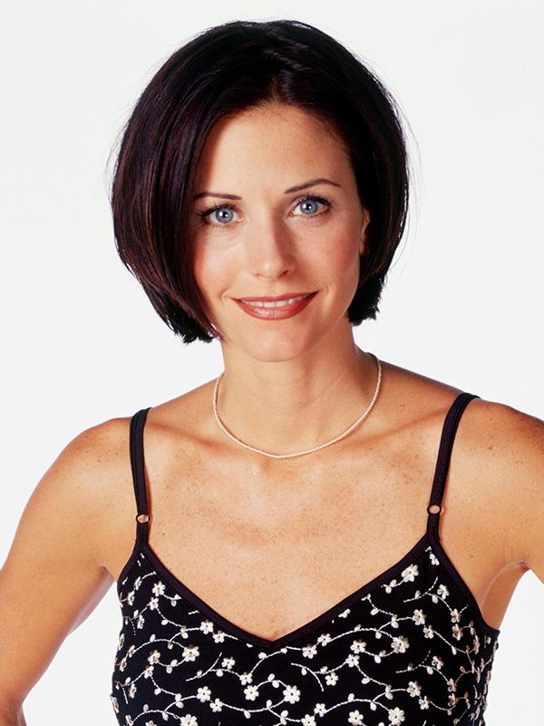 Courteney pictured in a promo shot for *Friends*.