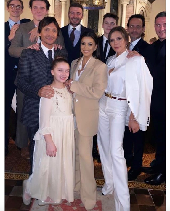 Harper and Cruz's godparents include Marc Anthony and Eva Longoria!