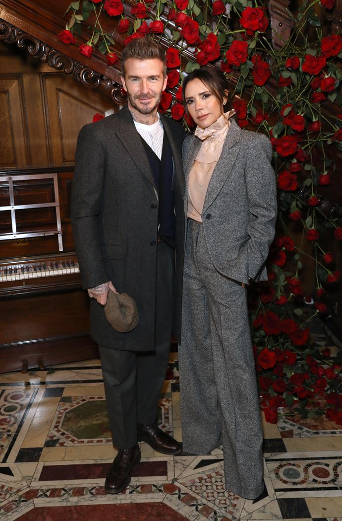 Victoria and David Beckham celebrated their two youngest children's baptism in late December.
