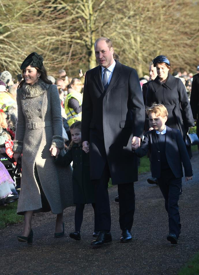 George and Charlotte have made their Christmas debut!