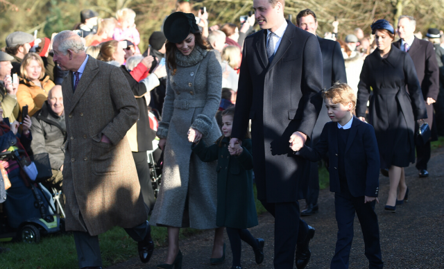 Prince George and Princess Charlotte steal the show as they and the royals attend the annual Christmas service