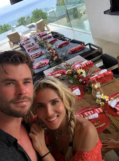 It was a very Aussie Christmas for Chris Hemsworth and Elsa Pataky, who spent the day with some of their nearest and dearest seaside.