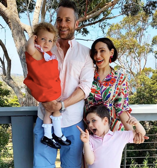 We can't tell who's more excited it's Christmas in this pic - comedian and entrepreneurial dream-team Zoe Foster-Blake and Hamish Blake... or their adorable brood!