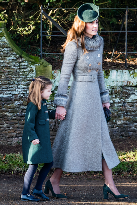 The trendy royal and her daughter opted for matching shades of green.