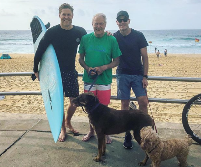 "It was a very Aussie Christmas for everyone's favourite vet, Dr Chris Brown who shared this snap from Newcastle beach with the caption: ""Feliz Navi-dad. An early morning Merry Christmas from some of the Browns! Sending the love to everyone spending the day with family or missing family."" And just like that, we love him even more."