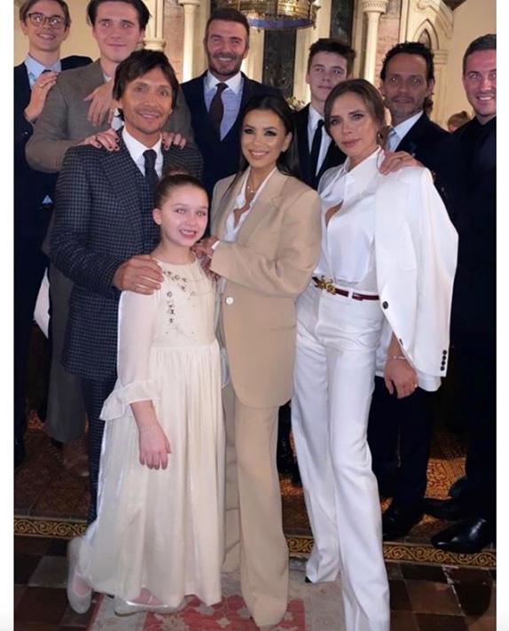 The Beckham children's baptism was a star-studded affair.