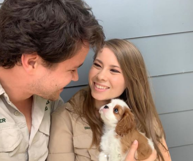 Bindi Irwin and Chandler Powell share snaps of their adorable new puppy