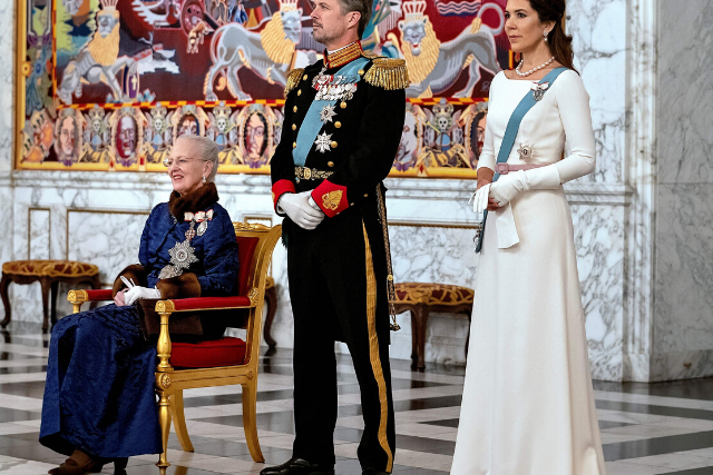Crown Princess Mary rings in the new year in a stunning white dress at Danish diplomatic reception