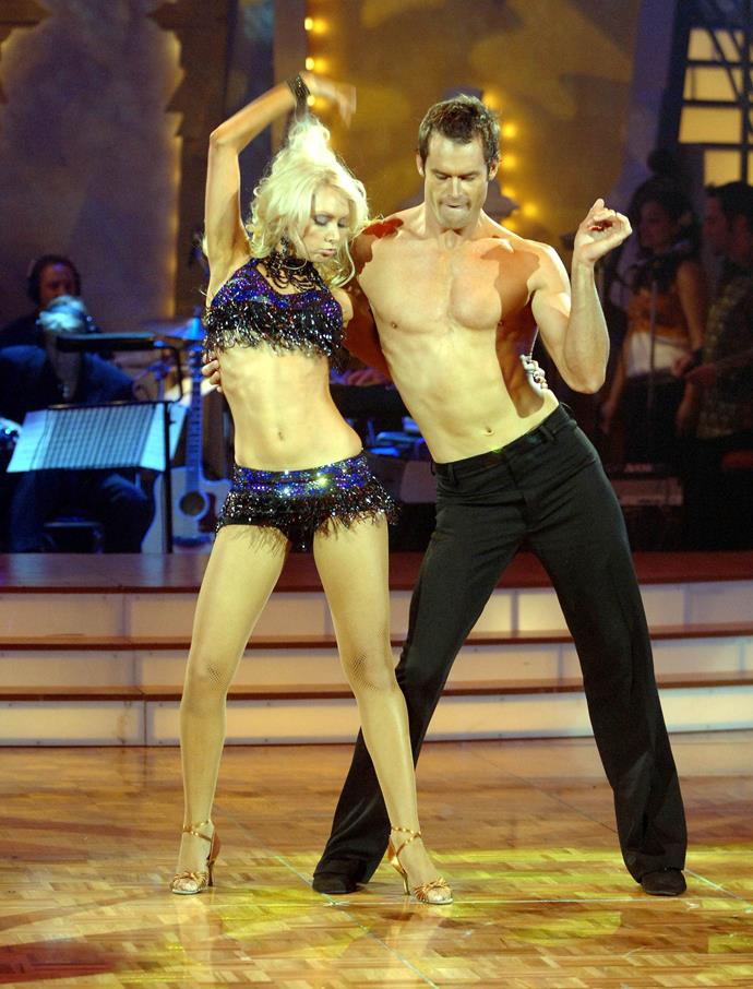 Tom's famous shirtless dance on *Dancing With The Stars*.