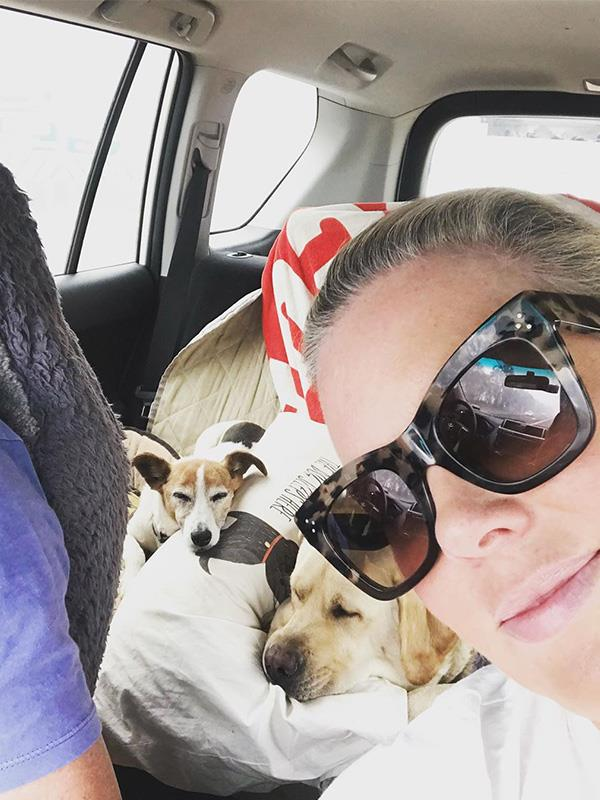 "*Sunrise* host Samantha Armytage spends most of her time in Sydney's eastern suburbs, but she also owns a country retreat in Bowral, in the NSW southern highlands. It seems she also spent some time in the summer holidays further down the NSW coast, as she shared this selfie of herself and her dogs travelling back home from Nimmitabel, NSW, close to Bega and Cooma.  <br><br> ""A belated HNY to you all. We've made it out of the South Coast fire zone & I'm feeling very excited for a shower, some electricity & telecommunications,"" Sam wrote on Instagram. ""More seriously, I'm feeling very thankful for my lot in life & very sad for those who've just lost lives, livestock & livelihoods. I plan to use the year ahead wisely. To simplify my life. ""With more love for my loved ones, more kindness, more patience, more healthy living. ""Wishing for more rain for our farmers, better management of our environment & good karma for all those brave souls (paid & unpaid) out there fighting these horrendous fires. ""To you & yours, from me & mine, be safe. Be happy & love lots in 2020. SA xx 😘."""