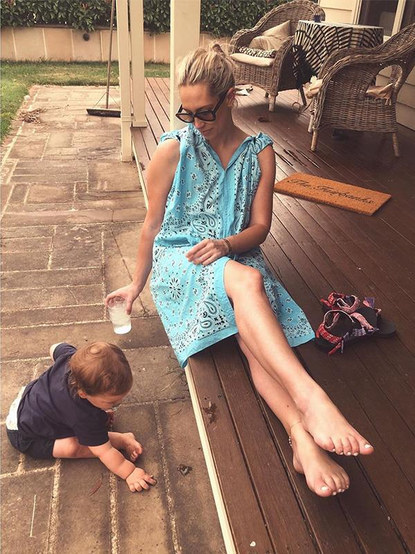Former journalist and now influencer Phoebe Burgess, the ex-wife of NRL star Sam Burgess, spends a lot of time at her parents' house in Bowral, NSW. But she made the decision to leave her parents and take her two small children - Poppy and Billy - back to Sydney, after conditions worsened over the weekend.