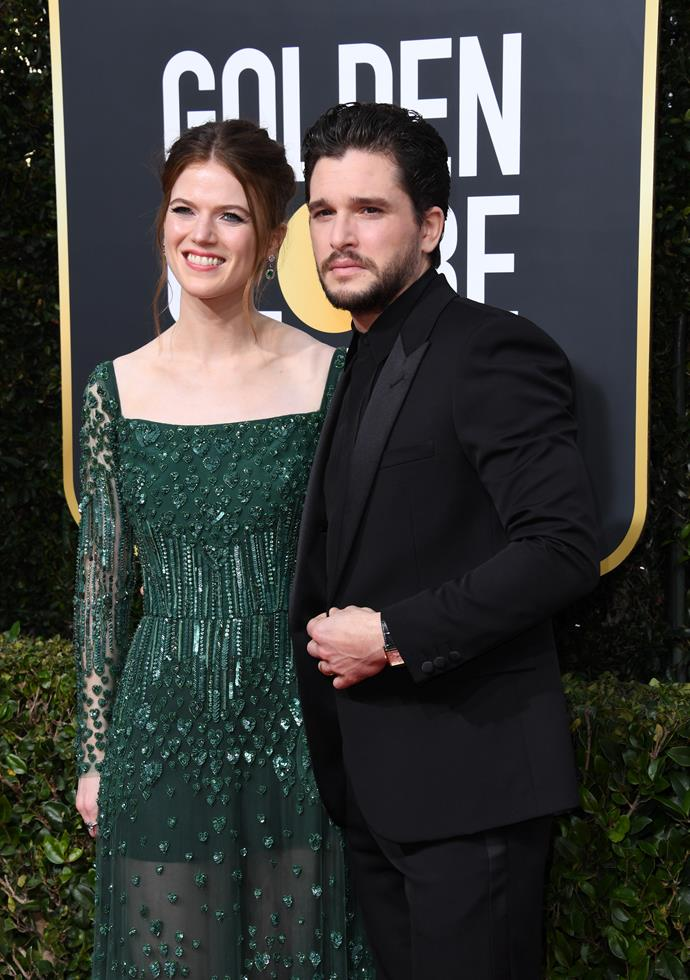 Rose Leslie & Kit Harington are literal #CoupleGoals as they arrive on the red carpet. Seriously, we're obsessed.