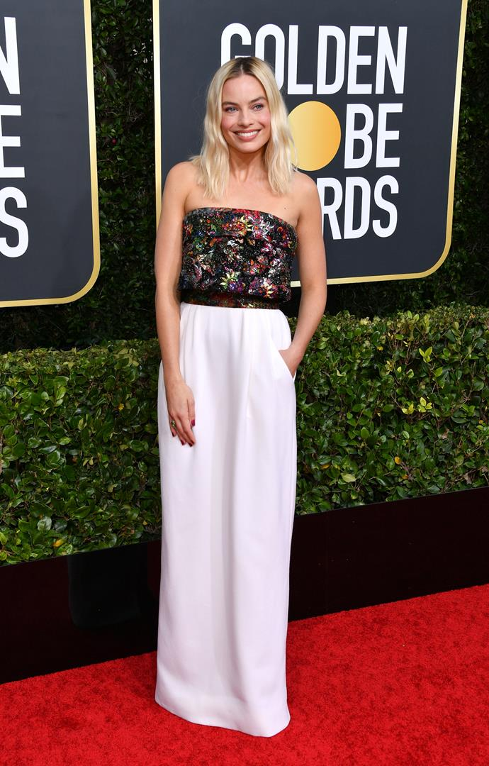 Our very own Margot Robbie owns the red carpet in this chic creation. She can do no wrong!