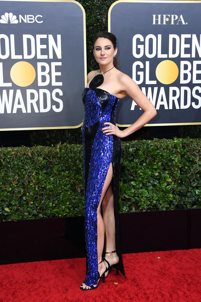 Shailene Woodley risks the slit, and pulls it off like a pro.