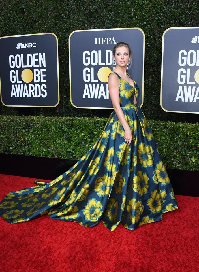 The phenomenon that is Taylor Swift is a floral vision in this eye-grabbing gown. We're here for it!