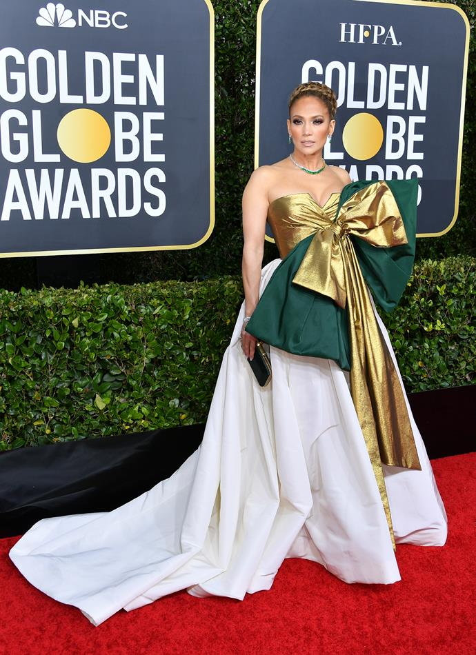 JLo's Valentino gown was one of the more extravagant looks on the red carpet this year.