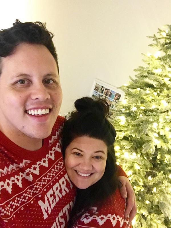 Tanya forced her boyfriend to wear matching Christmas sweaters in 2019 and we're totally here for it.