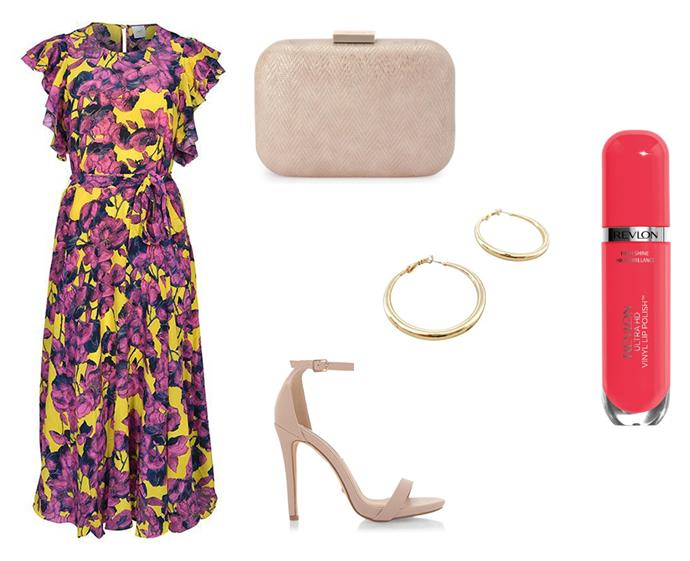 "Dress by Husk, $139 to rent at [GlamCorner](https://www.glamcorner.com.au/designers/husk/tropicana-dress-pineapple|target=""_blank""
