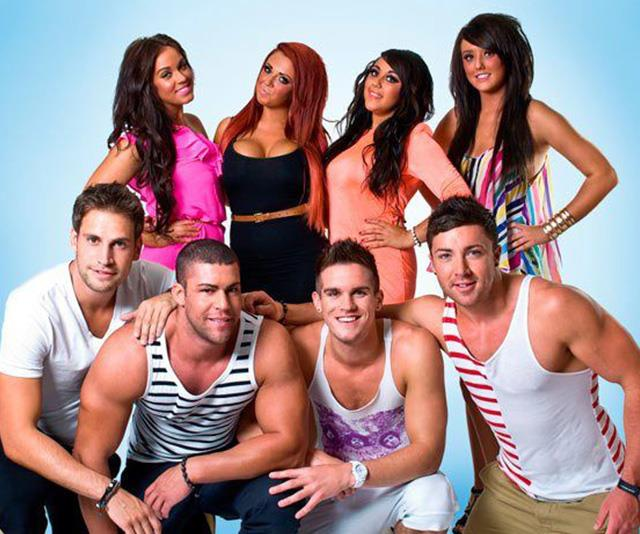 Charlotte with the rest of the *Geordie Shore* cast.