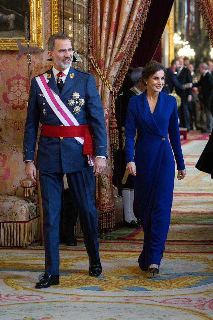 The Spanish royal accompanied her husband King Felipe VI.