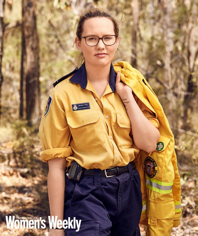 At just 18, Mikaela is a second-generation firefighter who began volunteering five years ago. At the Gospers Mountain fire in November 2019, she experienced flames reaching 600 metres high. That fire continues to burn at the time of this article's publication.