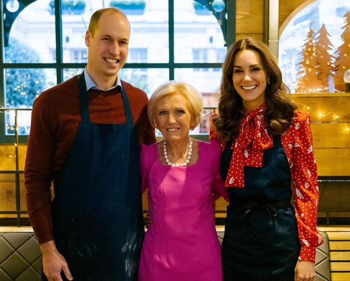 **Christmas with Mary Berry:** Kate's a whizz in the kitchen and teamed up with Mary Berry for a festive bake off!