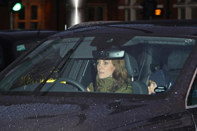 Kate was pictured entering Kensington Palace on her birthday on January 9.