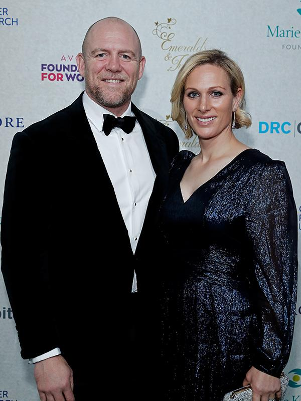 Mike and Zara Tindall pictured at a black tie event in London last December.