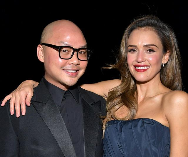 Makeup artist Daniel (left) pictured with actress and beauty entrepreneur Jessica Alba.