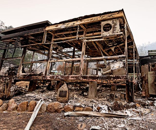 The fires destroyed much of Wytaliba, including the school.