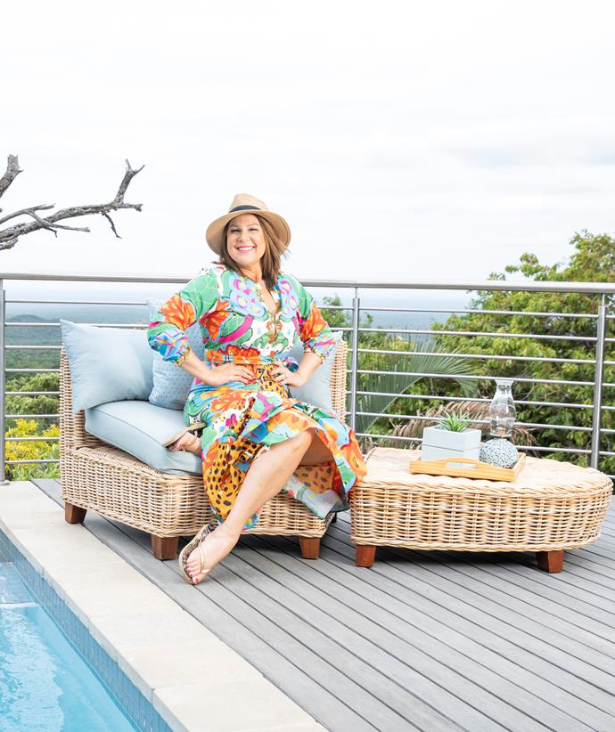 Julia Morris living her best life at her home away from home.