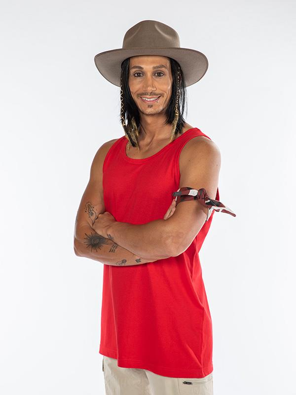 Cosentino was the first intruder to enter the jungle on *I'm A Celeb* this season.