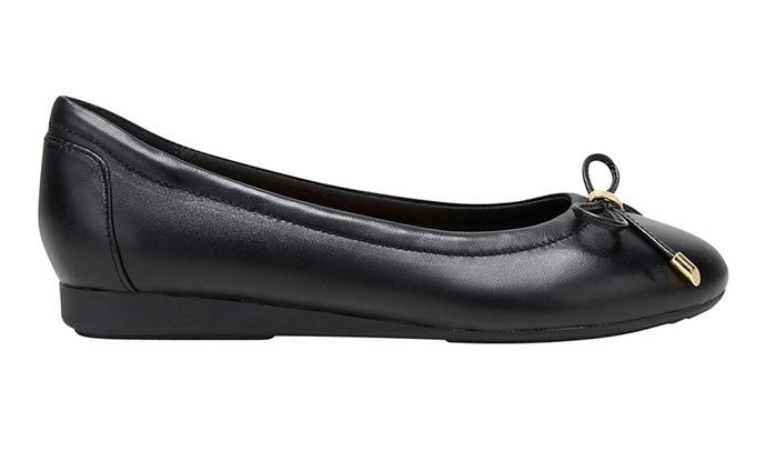 """[The Ballet by Hush Puppies, $149.95](https://hushpuppies.com.au/new/shop-all-new/womens-shoes/the-ballet-black/
