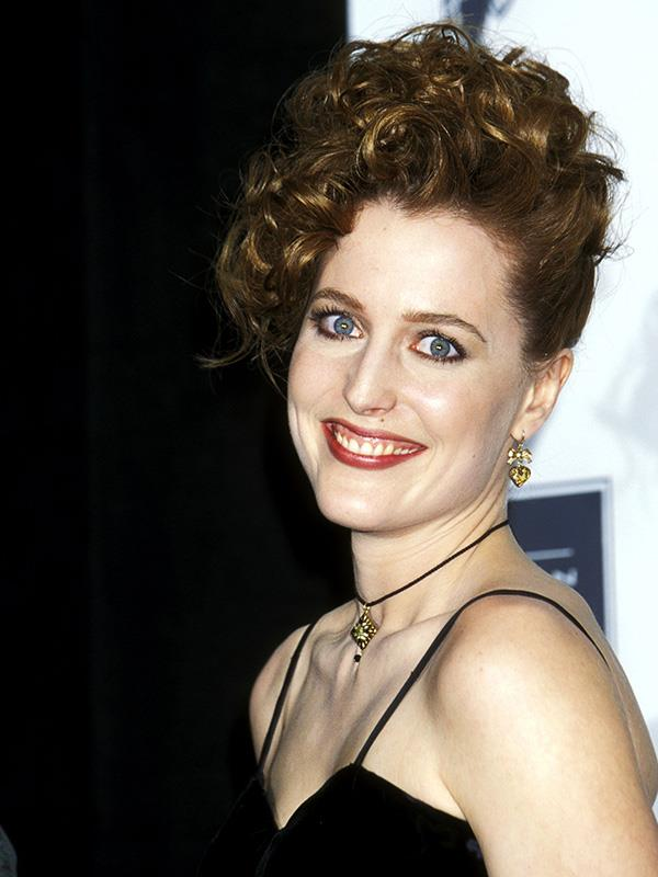 Gillian was a big fan of this lewk in the 90s = big hair, a choker and a slip dress.